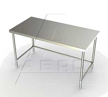Aero 4TSX Work Tables - 16 Gauge with Stainless Legs and No Shelf
