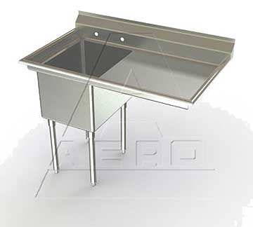 Aero Deluxe Sink One Bowl, Right Drainboards