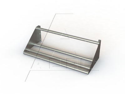 AERO Mfg. Slant Wall Shelves K.D. tubular design - 3SKTW-2182