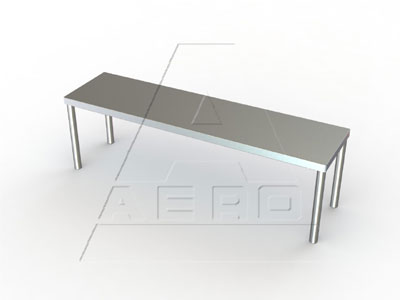 Aero Table-Mounted 12 x 72 Inch Overshelf - 4O-1272