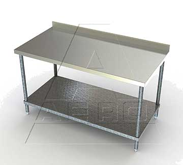 Aero 3TGS Deluxe Tables with Backsplash and Shelf