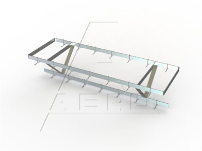 Aero CPC / CPS Ceiling Mounted Pot Racks - Stainless or Greycoat