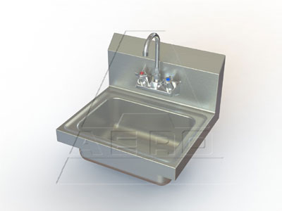 AERO Wall Mount Hand Sink With Faucet - HSF