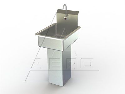 AERO Mfg. Hand Sink pedestal mounted base - LBE