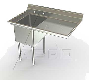 Aero MF1 Sinks Single Compartment with Right Drainboard