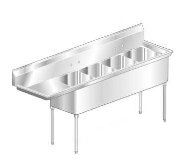 Aero Sink Economy Left Drainboard 4-bowl - MF4-2424-18L