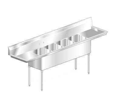 Aero Sink Economy Two Drainboards 4-bowl - MF4-2418-24LR