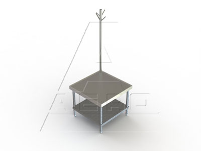 AERO Mfg. Mixer Stand open base with bottom shelf - 4MGRU-3036