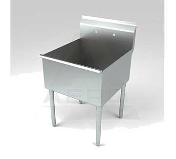 Aero Stainless Steel One Compartment Sink, 30 x 48 Bowl, Non-NSF