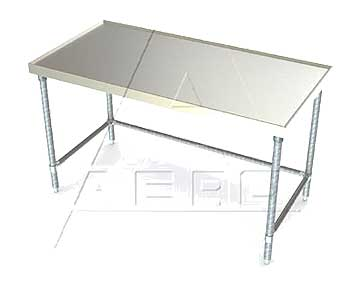 Aerospec 1TGX Tables with Heavy Gauge Stainless Tops and Galvanized Legs