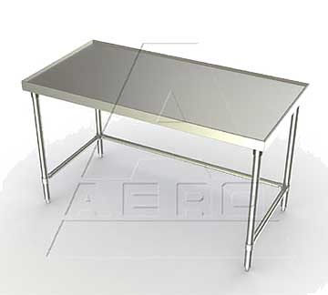 Aerospec 1TSX Tables with Stainless Legs, Raised V Edges and Shelf