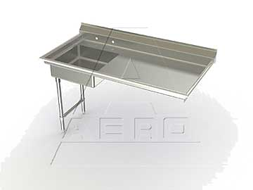 Aero Undercounter Dishtable Soiled 72 Inch Left-to-Right - 2USD-L-72