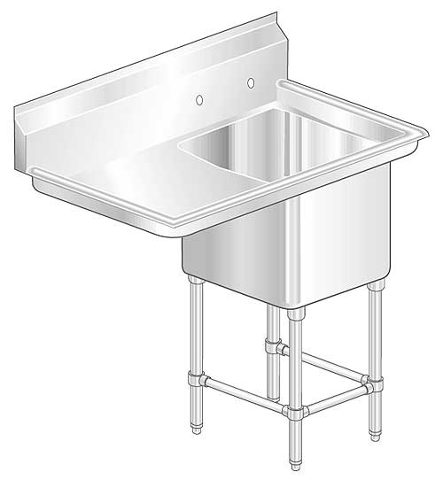 Aero 2F1L Aerospec Sinks with Left Drainboards