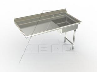 Aero Undercounter Dishtable Soiled 48 Inch Right-to-Left