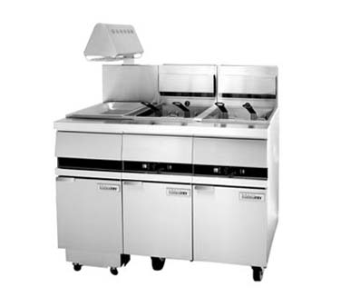 "ANETS GoldenFry® Filtronic II Filter Cabinet w/Heat Lamp banked w/14"" fryer(s) 15-1/2"" W  - #FILTII14W"