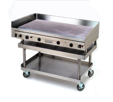 "ANETS GoldenGrill® Griddle gas 48""W x 24""D x 3/4""chrome plate thermostatic side grease drawer  - #A24X48GLD"