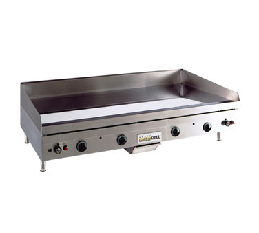 "ANETS GoldenGrill® Griddle gas 24""W x 24""D x 3/4"" chrome thermostatic side grease drawer  - #A24X24GCLD"