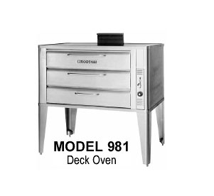 "Blodgett Oven deck-type gas 42"" - 981 DOUBLE"