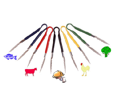 Crestware Color Coded Tongs