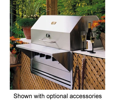 Crown Verity Built-In Charbroiler, 30 Inch Grill, LP Gas - BI-30LP