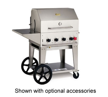 Crown Verity Portable BBQ Grill / Charbroiler Lp Gas - #MCB-30LP