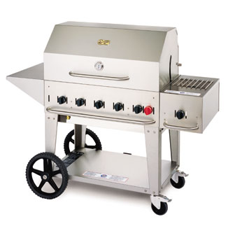 Crown Verity Portable Outdoor Charbroiler & 36 Inch Grill - MCB-36