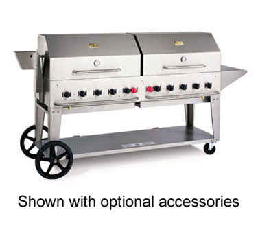 Crown Verity Outdoor Grill / Portable Charbroiler, 72 Inch Grill, Natural Gas - MCB-72NG
