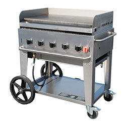 Crown Verity MG-36 Commercial Outdoor Griddle, 44 Inch, 5 Burners