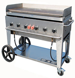 Crown Verity MG-48 Commercial Outdoor Griddle, 6 Burners, 56 Inches