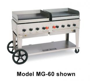 Crown Verity MG-72 Commercial Outdoor Griddle, 10 Burners, 81 Inches