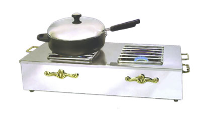Eastern Double Butane Stove Cover-Up SS - 3267G-SS