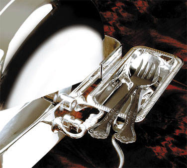 Eastern Utensil Holder clips onto chafer - 8502