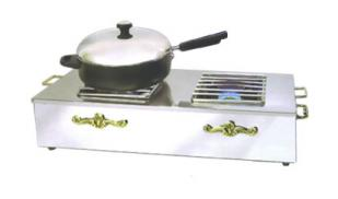 Eastern Double Butane Stove Cover-Up silverplated - 2267G