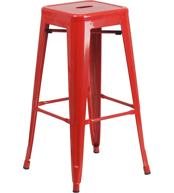 Metal Cafe Barstools - 30 Inch Backless