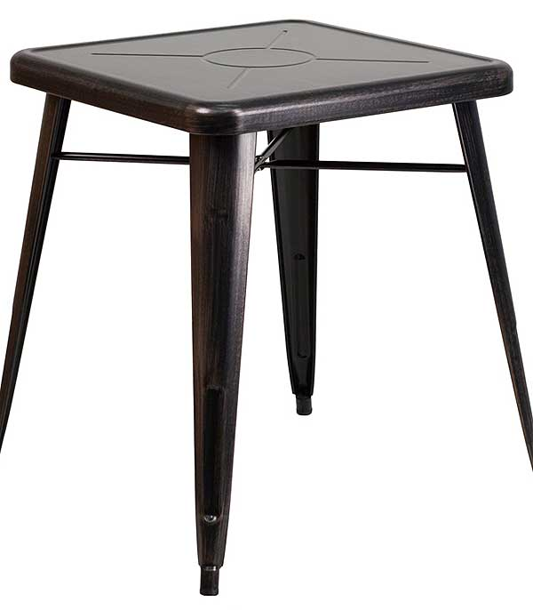 Metal Cafe Tables - 23.75 Inch Square Top