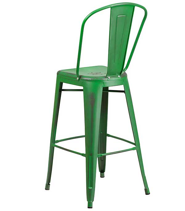 Cafe Barstools In Weathered Colors