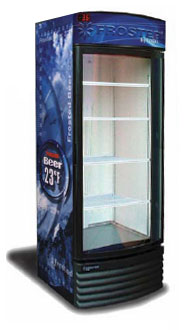 Vertical Beer Froster Section Curved Glass Door