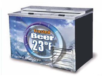 Fogel Horizontal Beer Froster, 2-Section, 15 Cu. Ft. – FROSTER-B-50-US