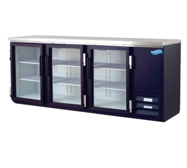 Commercial Back Bar Cooler Section Glass Doors Cu  Product Photo