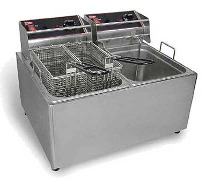 Grindmaster Split Pot Electric Fryer EL2X25, 30 Lbs, 240V