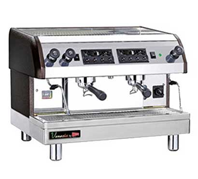 Cecilware Venezia II Espresso Machine, 2 Heads, 240 Volts