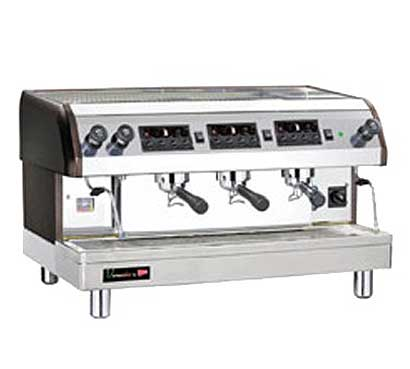 Cecilware Venezia II Espresso Machine, 3 Heads, 240 Volts