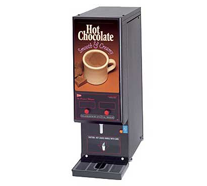 Grindmaster Compact Whipper Hot Chocolate Dispenser - GB2HC-CP