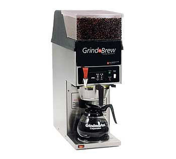 Grindmaster Grind'n Brew Coffee Brewer/Grinder for glass decanter - GNB-11H