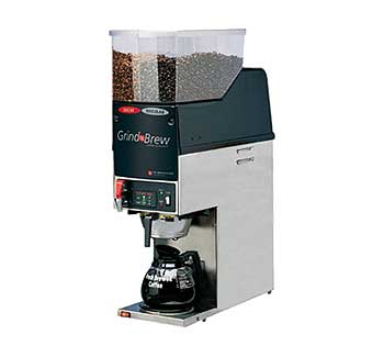 Grindmaster Grind'n Brew Coffee Brewer/Grinder for glass decanter - GNB-21H
