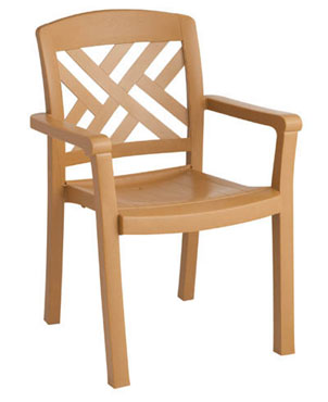 Grosfillex Sanibel Dining Armchair, One Dozen - 45451408