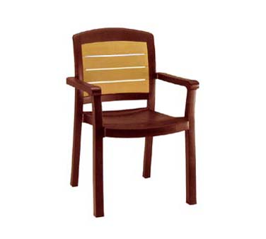 Grosfillex Aquaba Dining Armchair, One Dozen - 49453067