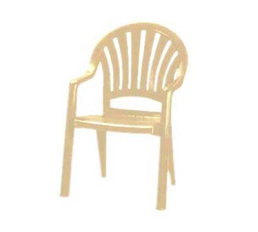 Grosfillex Pacific Fanback Armchair US092066, Set of 4