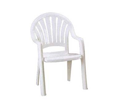 Grosfillex Pacific Fanback Armchair 49092004, Set of 16