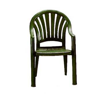 Grosfillex Pacific Fanback Armchair US092078, Set of 4